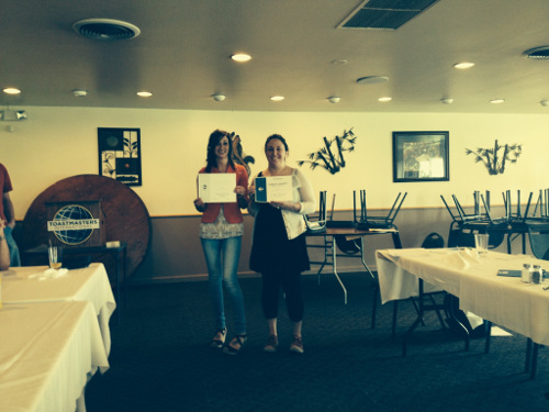 Contest winners Heather Brown and Tonya Sunderland.