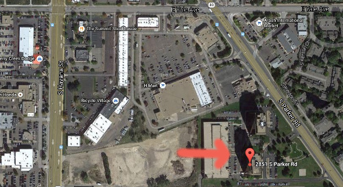 Map for George Sutton Toastmaster club in Aurora Colorado 2851 S. Parker Road