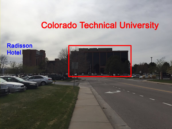 Colorado Technical University photo from down the street.